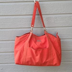 Baggallini RED Nylon Double Handle/Strap Tote